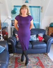 Purple Dress (Trixy Deans) Tags: crossdresser cd cute crossdressing crossdress classic classy crossdreeser dress shortdress tgirl tv transvestite transgendered transsexual tranny tgirls transvesite crossdresse xdresser sexy sexytransvestite sexyheels sexylegs sexyblonde