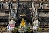 The Small Golden Buddha and the Grand Staircase at Wat Chedi Luang (Anoop Negi) Tags: thailand chiangmai wat chedi luang monument site temple tower buddhist gauram buddha unesco restoration photo photography anoop negi ezee123