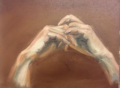 Hands oil on mdf 30*40 (MarcoH from Holland) Tags: oil painting mdf hands
