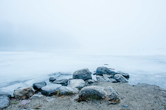 This Bitter Earth~ (Ernie Kwong Photography) Tags: dinahwashington itscoldoutside ipulledoverforthis winterwonderland frozen heartlake lake conservation landscape ice minimalism fineart moody serene rocks snow canada ontario winterlandscapes