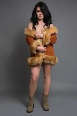 Natasha (austinspace) Tags: woman portrait spokane washington studio model alienbees brunette leotard happy heels jacket