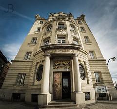 Goethe institut in Prague (JanBures_com) Tags: panorama wide angle 10mm samyang prague goethe city praha czech republic panoramic architecture sunset masarykovo nabrezi 2017