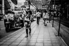 Street Fashion | Bangkok 2016 (Johnragai-Moment Catcher) Tags: people photography streetfashion blackwhite blackandwhite bangkokstreet thailandtourism johnragai johnragaiphotos johnragaistreet johnragaibw street streetphotography straatfotografie