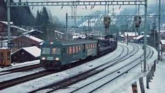 Bt 945 (BLS + Basel) Tags: bls bt steuerwagen kandersteg lötschberg nordrampe eisenbahn fahrzeug zug lokomotive