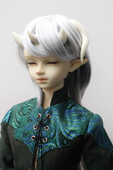 Leprechaun Boys Li (Damasquerade) Tags: bjd artist head sculpt doll leprechaunboysli elf horns rare aod angelofdream