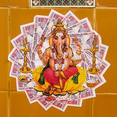 IMG_11710 (Manveer Jarosz) Tags: 1000 bharat ganapati ganesha ganpati hindu hindustan india jaisalmer jaisalmerfort ji rajasthan sri blessing culture currency hazaar money notes rupees tradition wealth
