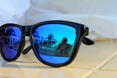 The other side of the shades.. (vipinbp06) Tags: sunglasses shades reflection shadesofblue nikon