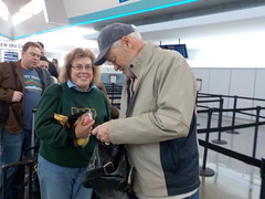 David and Peggy at the Buffalo Airport (JuneNY) Tags: buffalotojfk new york airports buffalonewyork delta buffalointernationalairport erie county airport