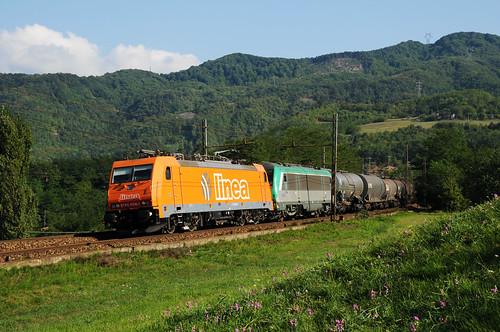 Linea_E186-908+SNCF_E436-352__Genova-Ferrandina__2009-08-29_Rigoroso