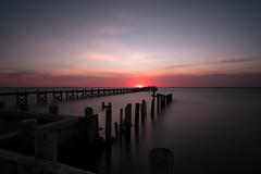 Point Of Light (DJawZ) Tags: sunset pilings nj fujifilm xt2 lbi long beach island new jersey pier dock sky clouds water smooth nd filter hoya