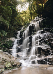 Blue Mountains - Waterfall (TomSmith98) Tags: blue mountains waterfall long shutter speed silky wispy saturation australia rocks wentworth trees cliffs landscape outdoor water stream creek watercourse nsw nationalpark green leaves mountain forrest jungle nikon d7200 d90 steps