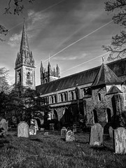 Llandaff Cathedral - Cemetery View (All I want for Christmas is a Leica) Tags: llandaff llandaffcathedral cardiff cemetery graveyard graves headstones monochrome monochromelandscape church churchesinwales cathedral