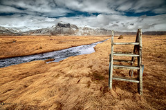 Stairway to heaven (juanjoleal) Tags: stairs escalera montaña mountains iceland islandia sky cielo cloud nubes