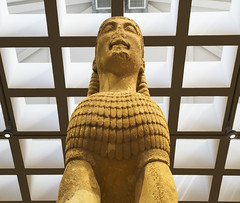 "Delphi, The Naxian Sphinx - IV (egisto.sani) Tags: delfi museo sphinx sfinge ""naxian sphinx"" ""sfinge dei nassi"" ""high archaic"" ""proto arcaico"" style stile period periodo archaic arcaico arcaica greek greca arte art marble marmo relief rilievo "" siphnian treasury"" ""tesoro sinfi"" phocis focide delphi ""archaeological museum"" ""museo archeologico"""