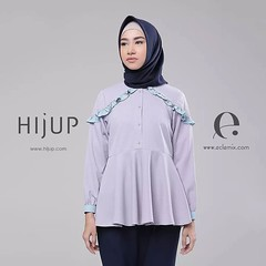 Embrace a new mood of femininity. Frill is still trending. ----------------------------------------------- Cersey Top in Grey IDR 249.000 ----------------------------------------------- Visit www.hijup.com, www.eclemix.com or reach admin contacts: LINE@ o (eclemix) Tags: hijab fashion ootd localbrandindonesia localbrand eclemix bandung