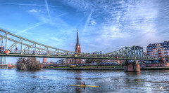 The Eiserner Steg (Iron footbridge, Iron bridge) (creati.vince) Tags: architecture creativince frankfurt germany mainhattan bridge