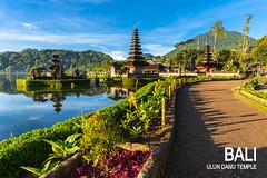 Pura Ulun Danu Bratan at sunrise, famous temple on the lake, Bedugul, Bali, Indonesia. (zenuri_ismawan) Tags: balinese puraulundanubratan architecture asia bali beauty bedugul beratan boat bratan culture danu destination exotic famous hindu hinduism iconic illuminated indonesia lake landmark landscape light morning nature place pura reflection scene scenery scenic sightseeing sky southeast sun sunlight sunrise symbol temple tour tourism touristic travel traveling tropical ulun vacation village volcano water
