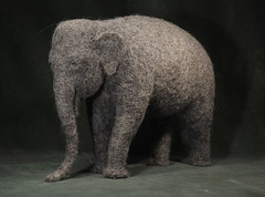 elephant big (vriad_lee) Tags: elephant felted sculpture needlefelting felt