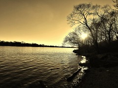rockriver sepia yellow sinnissippipark park shore landing... (Photo: BillsExplorations on Flickr)