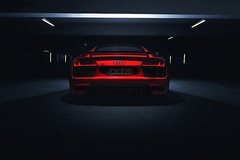 Audi R8 V10 PLUS (Christian Motzek) Tags: audi r8 v10 plus power ingolstadt night light star neon race car photo racecar