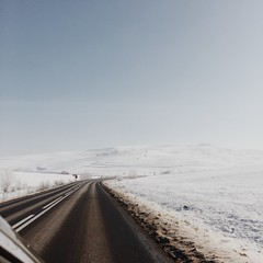 on the road (sarkadimola) Tags: way travel car nature far escape sky alone free landscape winter snow sunny