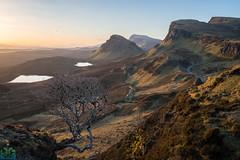 Quiraing Sunrise (James G Photography) Tags: adventure cleat isleofskye lonefigure peopleinthelandscape quiraing scotland skye staffin sunrise thequiraing winter