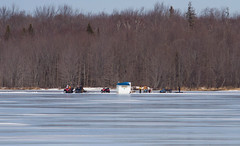 Living on the edge! ((nature_photonutt) Sue) Tags: icefishing endofmarch lotsofweight ironbridgeontariocanada
