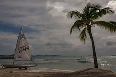 Stereotypical Caribbean Scene - Tortola,  BVI (bvi4092) Tags: nikon d300s photoshop nikkor 18105mmf3556 outside outdoor nikon18105mmf3556 travel bvi britishvirginislands caribbean westindies sea tortola sky landscape yacht beach tree island