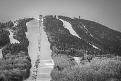 Pico Peak, Vermont (T.M.Peto) Tags: picopeak vermont skimountain skiresort mountain mountains mountainpeak ski skiing chairlift snow skislopes slopes tower trees pines alpine winter morning blackandwhite blackwhite shadows lightandshadow lightroom nikond3300 nikonphotography killington rutland