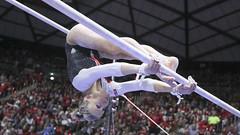 gymnastics008 (Ayers Photo) Tags: sports canon utahutes utah utes red redrocks gymnastics barefoot bare foot feet toes toe barefeet woman women