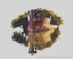 SS Ayrfield Shipwreck, Homebush Bay, Sydney, Australia (OneThousandWordsorLess.com) Tags: shipwreck nature fineart fineartphotography travel sydney travelphotography sydneyolympicpark boat rustic ruin abandonded ssayrfield reflection water bay