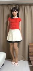 DSC09811 (mimo-momo) Tags: crossdressing crossdresser crossdress transvestite japanese miniskirt