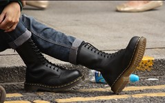 Doc Martem Steel Capped (collaredinboots1) Tags: boots booted dms docs docmartens jeans skinhead skinnys skinnyjeans