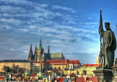 St. Vitus Cathedral, Prague (mmalinov116) Tags: prague praha czechrepublic cathedral capital city vitus stvitus blue church gothic