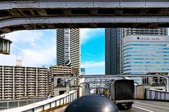 At Kachidogi Bridge on Motorcycle : 勝鬨橋 (Dakiny) Tags: 2017 spring april japan tokyo chuo chuoward kachidogi city street outdoor bridge architecture kachidogibridge motorcycle nikon d7000 sigma 1770mm f284 dc macro os hsm sigma1770mmf284dcmacrooshsm club it