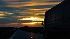 on the road again (yakkay43) Tags: streetfotografie abstract lifestyle sunrises truck road again outdoor new craft color adventurous artistry