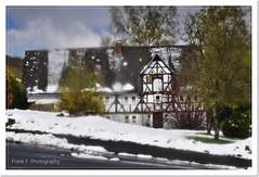 Anno 1785 (friedrichfrank1966) Tags: architektur old house architecture winter outdoor artscene verschwommen availablelight clouds wolken snow schnee rahmen nikon sigma fachwerkhaus nrw siegen germany