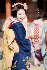 Maiko (byzanceblue) Tags: 富津愈 宮川町 祇園 京都 舞妓 芸妓 奉納舞 花街 kagai gion maiko geisha kyoto japan japanese traditional kimono kanzashi color woman girl beauty female beautiful bokeh smile