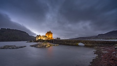 The Classic... (EXPLORED) (Stefan (back from Scotland, but need some time)) Tags: castle eilean highlander eileandonancastle kyleoflochalsh nightshot nightphotography longtimeexposure lt lte clouds bridge water higlands schloss burg schottland scotland dornie scots scot sonya7m2 sonya7 sel1635f4z sel1635z wideangle