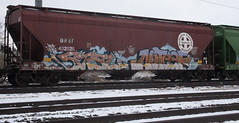 STAL NOTEEF (۞Emptiness Of Light۞) Tags: stal noteef kwt 2nr graffiti art painting railroad snow colorado co 2016