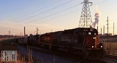2014-04-05 Yankeetown IN KYLE9347 SD45T-2 (ex-SP9347) (gravelydude1966) Tags: locomotive emd sd45t2 tunnelmotor kyle kyle9347 sp espee sp9347 speedlettering yankeetown indiana coal coaltrain