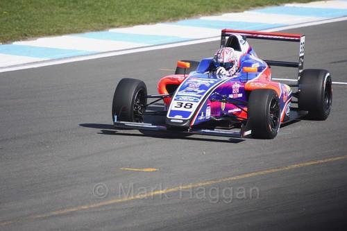 Jamie Caroline in British F4 Race One during the BTCC Weekend at Donington Park 2017: Saturday, 15th April
