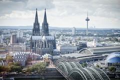 View From Up High (spcoonley) Tags: fujifilm fuji xe2 xf1855mmf284 cologne germany cathedral köln deutschland kölner dom hohenzollern bridge rhine rhein river cityscape skyline europe