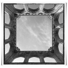 Lowther Castle (Robert Božič) Tags: bw castle lowther sky ruins simetry windows pillars