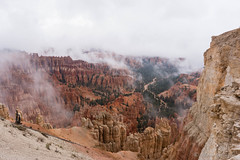 Foggy Bryce! (Mauro Grimaldi) Tags: 2016 usa brycecanyon brycecanyonnationalpark honeymoon nationalpark ontheroad park red redrock southwest travel trip usaontheroad2016 utah viaggio west foggy canyon cloudy