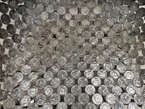 20170411 Half-dollar chair Coin Detail 2 Chatsworth Derbyshire