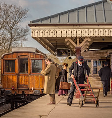 Platform 2 (tom ballard2009) Tags: bluebellrailway sheffieldpark steam railway carriage people sussex hiltonpark howardsend tv filming film action station platform bluebell sheffield park hilton actors