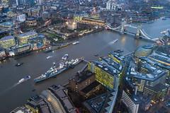 London Nightscape XXII (Douguerreotype) Tags: uk gb britain british england london city urban bridge ship boat river thames dark night lights buildings architecture tower