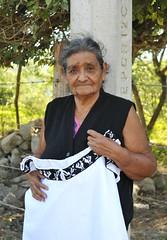 Silvina la Bordadora Zoque Woman Chiapas Mexico (Ilhuicamina) Tags: zoque mujer woman copainala chiapas blusas blouses embroidered textiles clothing