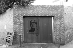 Mao BW (StuRap) Tags: perth blackandwhite laneway streetart elk mao